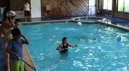 Indoor swimming pool at Glenwood Inn and Conference Center
